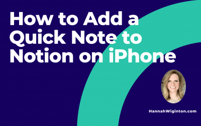 How to Add a Quick Note to Notion on iPhone