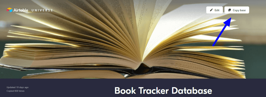 Copy Book Tracker Database Airtable