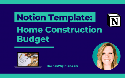 Notion Template: Home Construction Budget