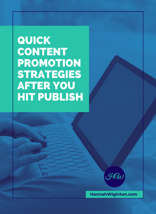 QUICK CONTENT PROMOTION STRATEGIES AFTER YOU'VE HIT PLUBLISH ebook
