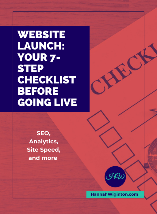 website launch - 7 step checklist