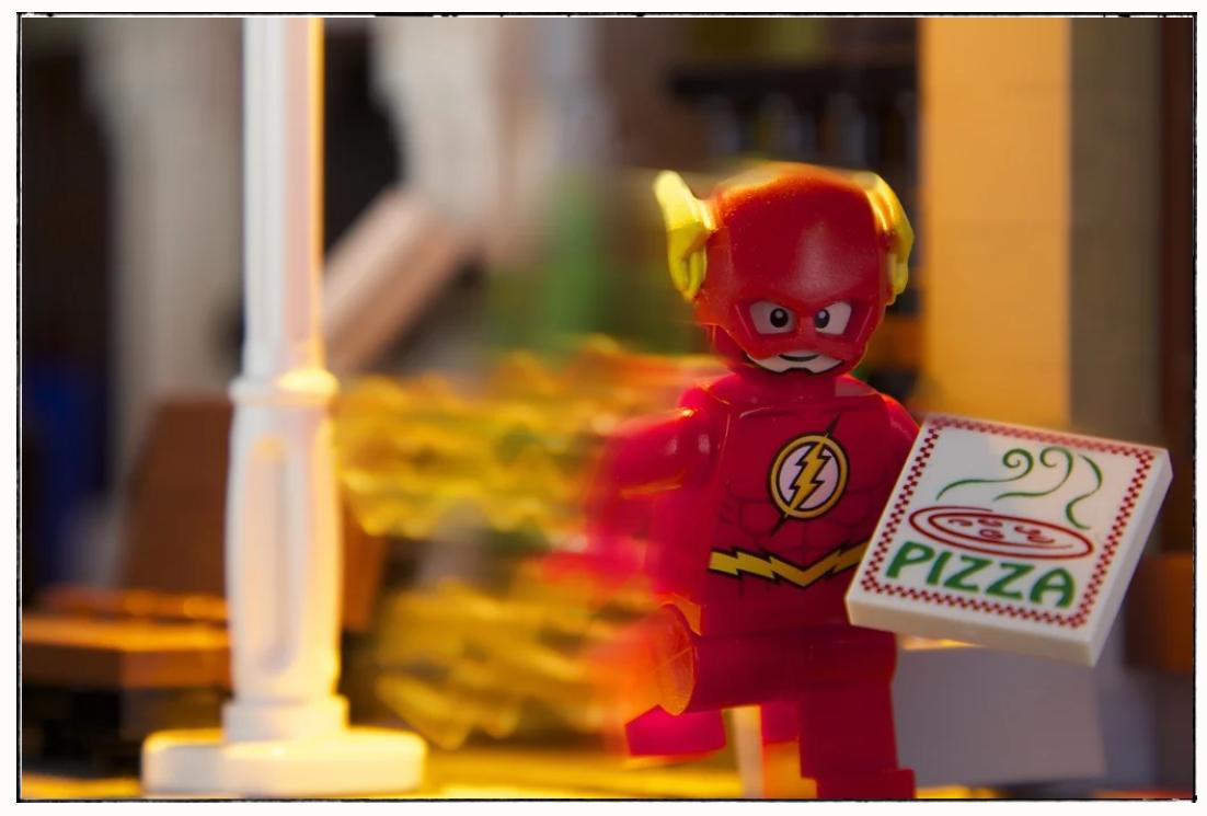 running lego man