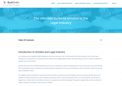 Guide to Airtable in the Legal Industry