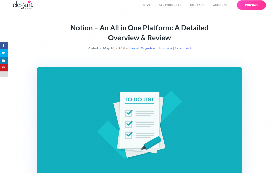 Notion – An All in One Platform: A Detailed Overview & Review