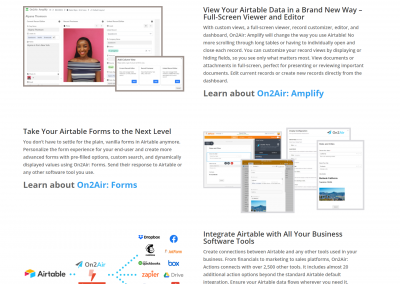 On2Air – SaaS Content Project