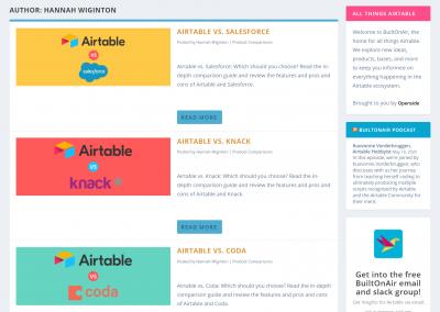 BuiltOnAir – Series of Software Comparison Articles
