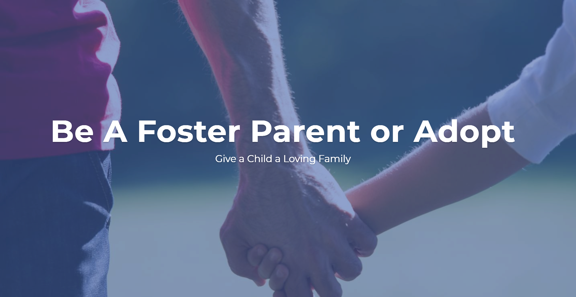 Be a Foster Parent – Web Copy and Landing Page