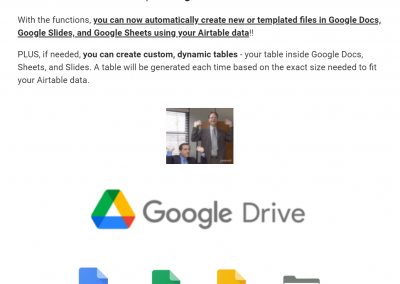 Email – New Features – Google Functions